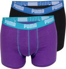 Hipster / Boxer Basic Purple/Caviar 2-Pack Puma L