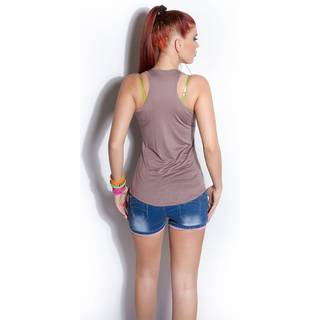 Fashion Tanktop 4664 cappucino