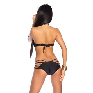 Push-Up Bandeau-Bikini 009 schwarz
