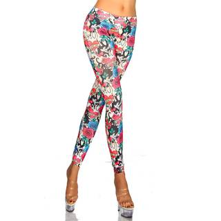 Leggings Blumen bunt